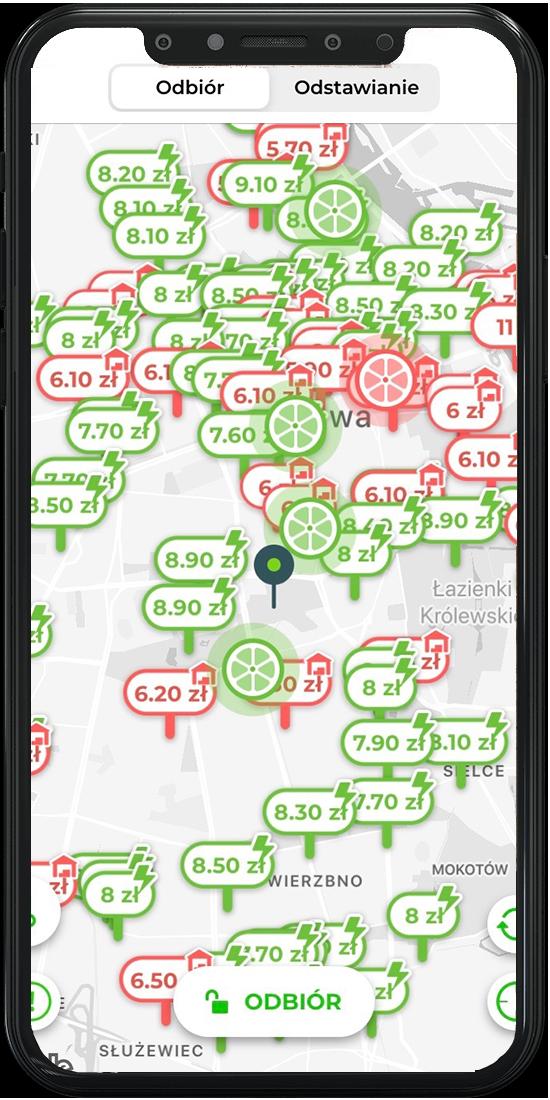 Aplikacja Lime z dostępem do trybu Juicer